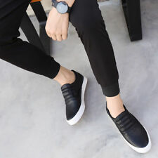 Mens Breathable Leather Driving Casual Boat Flats Moccasin Slip On Loafers Shoes