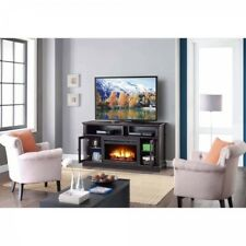 Electric Fireplace TV Stand Heater Media Storage Cabinet Entertainment Center 70