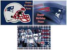 EDIBLE CAKE TOPPER NEW ENGLAND PATRIOTS ICING SHEET PARTY TOPPER DECORATIONS