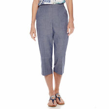 Alfred Dunner Womens Capris St Augustine Pull On Chambry size 8 10 18 NEW