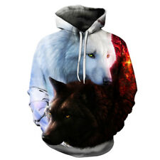 Wolf Printed Men 3d Hoodies Boy Tracksuits Out Coat choose size/color