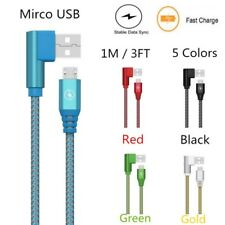 90 Degree USB To Micro USB Data Charging Cable For Samsung LG HTC Android Phone