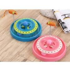 2-in-1 Round Cat Kitty Funny Activity Disk Mouse Teaser Interactive Toy