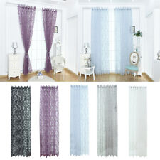 Livingroom Balcony Floral Grommet Sheer Bay Window Curtain Tulle Panel 39''x98''