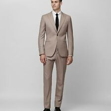 NEW OAKLAND WOOL SLIM SUIT TAUPE MENS OAKLAND WOOL SLIM SUIT TAUPE