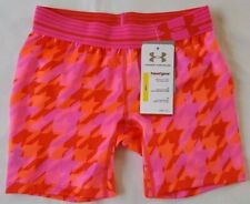 NWT UNDER ARMOUR YOUTH GIRLS' HEAT GEAR FITTED SHORTS SIZE :  YMD & YLG