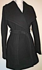 Michael Kors Cashmere Blend Belted Wrap Coat Navy Size S $198 NWT