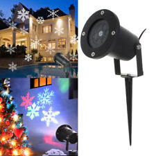 New LED Laser Snowflake Light Projector Landscape Lamp Garden Xmas Decor Outdoor