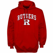 New Agenda Rutgers Scarlet Knights Scarlet Midsize Arch Over Logo Hoodie