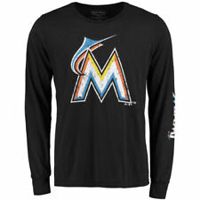 Majestic Threads Miami Marlins Black Ballpark Softhand Long Sleeve T-Shirt