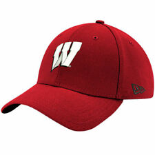 New Era Wisconsin Badgers Red Relaxed 49FORTY Fitted Hat - College