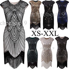 1920s Vintage Flapper Dress Great Gatsby Charleston Party Sequins Tassel Dresses