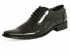 Dobell Mens Formalwear Smart Parisian Patent Dress Shoes Laced Leather Linning