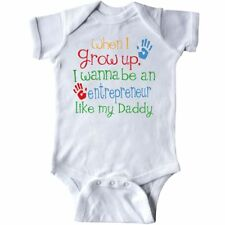 Inktastic Entrepreneur Like Daddy Infant Creeper Childs Kids Baby Gift Son My