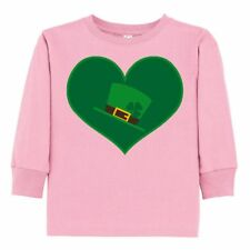 Inktastic Irish Hat Green Heart Toddler Long Sleeve T-Shirt St Patricks Day St.
