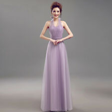 UK Stock Evening Formal Party Ball Gown Prom Bridesmaid Wedding Dress Size 6-26