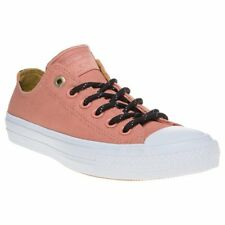 New Womens Converse Pink Chuck Taylor All Star Ii Low Canvas Sneakers Lace Up