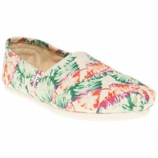 New Womens Toms Natural Multi Classic Canvas Shoes Espadrilles Slip On