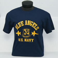 US Navy Blue Angels Block Design ADULT or YOUTH T-Shirt