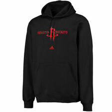 adidas Houston Rockets Black Logo Pullover Hoodie Sweatshirt - NBA
