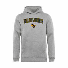 Georgia Tech Yellow Jackets Youth Ash Proud Mascot Logo Pullover Hoodie