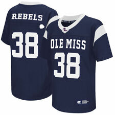 Colosseum #38 Ole Miss Rebels Youth Navy Football Jersey - College