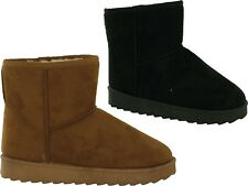 Women New Soft Warm Inner Winter Ankle Pull On Ladies Boots UK Size 3-8