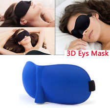 Unisex Soft Padded Blindfold 3D Eye Mask Sleep Aid Shade Cover