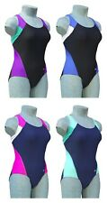 CHEX Cuba Ladies Girls Swimming Costume Swim Suit Racer Strapped Back Lycra