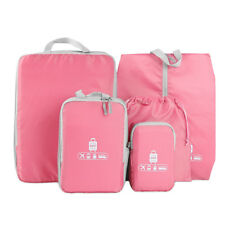 5 Pieces Travel Organizers Luggage Storage Waterproof Bag Clothes Suitcase