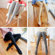 Lady Girl Fur Fleece Lined Thick Winter Soft Leggings Pants Stirrup Stretch Cosy