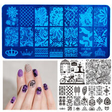 Nails Stamping Plates Series Lace Flower Pattern Template Image Stencil Tool New
