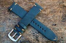 Watch strap handmade Aegean Blue Leather fit speedmaster any size available