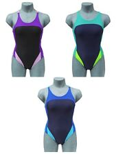 CHEX Fitness Rio Ladies Swimming Costume Swim Suit Racer Strapped Back Lycra