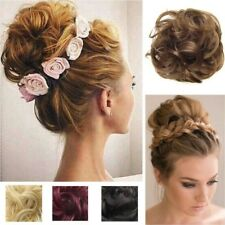 US STORE Lady Pony Tail Hair Extensions Bun Hairpiece Scrunchie As Human Chignon