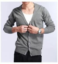 Men Winter Fashion V Neck Button Closure Large Size Cardigan Sweater R374