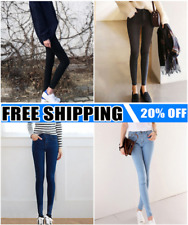 Women High Waist Skinny Jeggings Pencil Pants Slim Stretch Denim Jeans Lot BM