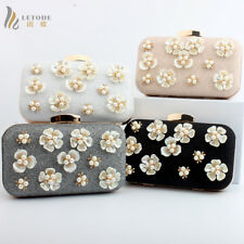 Women's Evening Party Clutch Handbag Purse Wallet Shoulder Crossbody Bag Floral