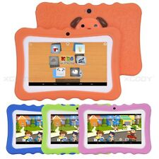 Kids Tablet PC 7'' Android4.4 Case Bundle Dual Camera 1.3Ghz Wi-Fi Quad Core 8GB