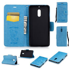 Slim Printed Patterns Flip Pouch Leather Skin Case Cover for Nokia 6