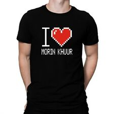 I love Morin Khuur pixelated T-shirt