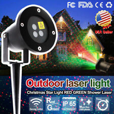 Outdoor Christmas Laser Lights Flight Projector Motion Twinkle Light Waterproof