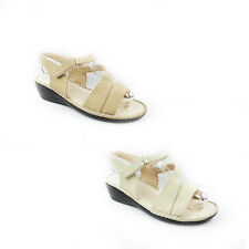 WOMENS LADIES CASUAL SUMMER STRAPPY  MID HIGH WEDGE HEEL SANDALS SHOES SIZE 3-8