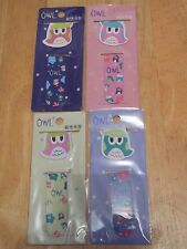 PK OF 2 CUTE KAWAII MAGNETIC OWL BOOKMARKS PAGE FINDER MARKERS BOOK MARKS BNIP