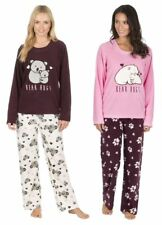 Ladies Womens Fleece Day Dreamer Pyjamas Set PJ's Nightwear Set Size UK 8-18