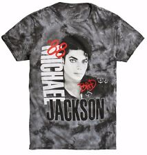 Michael Jackson Bad Tour '88 Black & Gray Wash Mens T-Shirt New with Tags