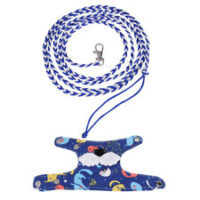 2 Color Squirrel Ferret Pig Rat Rabbit Small Pet Soft Harness And Leash Lead Set
