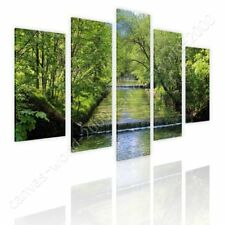 CANVAS (Rolled) Waterfall Split 5 Panels 5 Panels Oil Painting Print Oil Paints