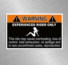 Warning Experienced Rider Vinyl Decal Sticker Funny Bike Motorcycle Snowmobile