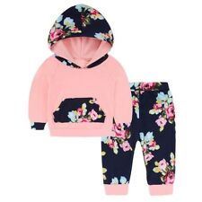 Baby Girls Clothing Set 2 Pieces Set Hooded Coat+ Pants Girls Clothes For 0-2 Y